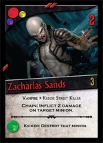 Zacharias Sands card